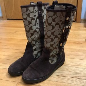 Coach TULLIP Suede Boots